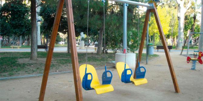 Columpios para parques infantiles aunor for Columpios infantiles