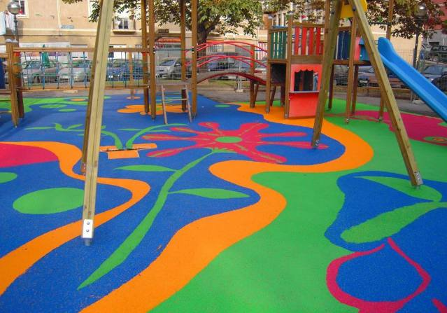 Suelos de caucho para parques infantiles aunor - Suelos vinilicos infantiles ...